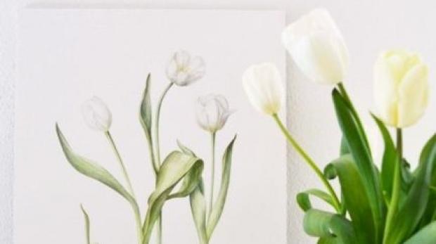 Prima expoziție de ilustrație botanică, arta care creează portrete de flori