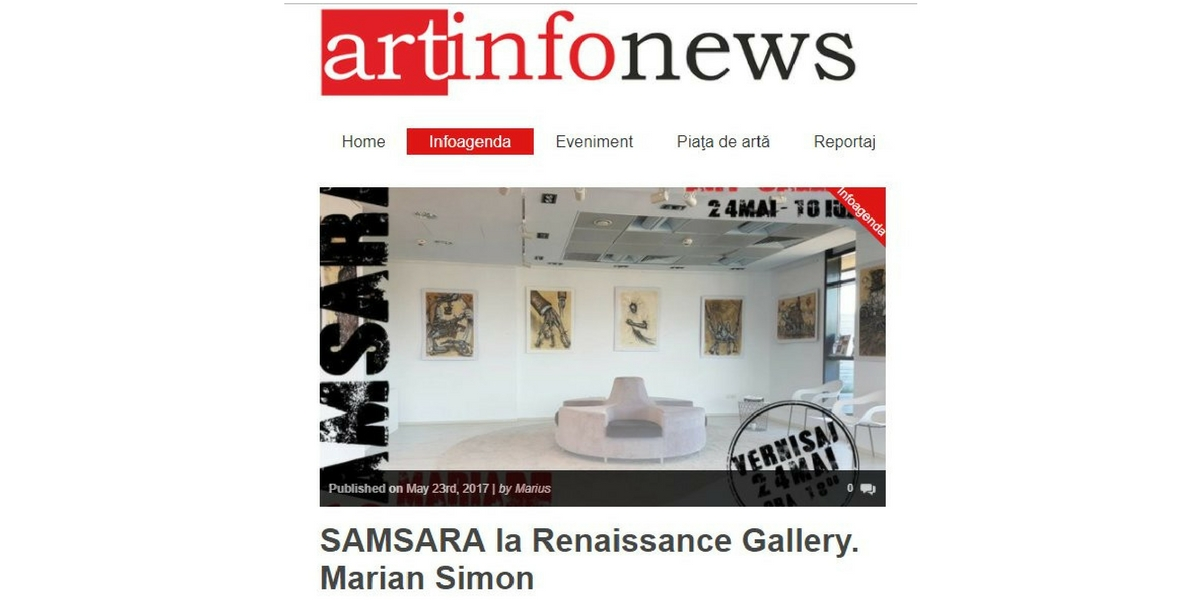 ArtInfoNews – SAMSARA – May 2017