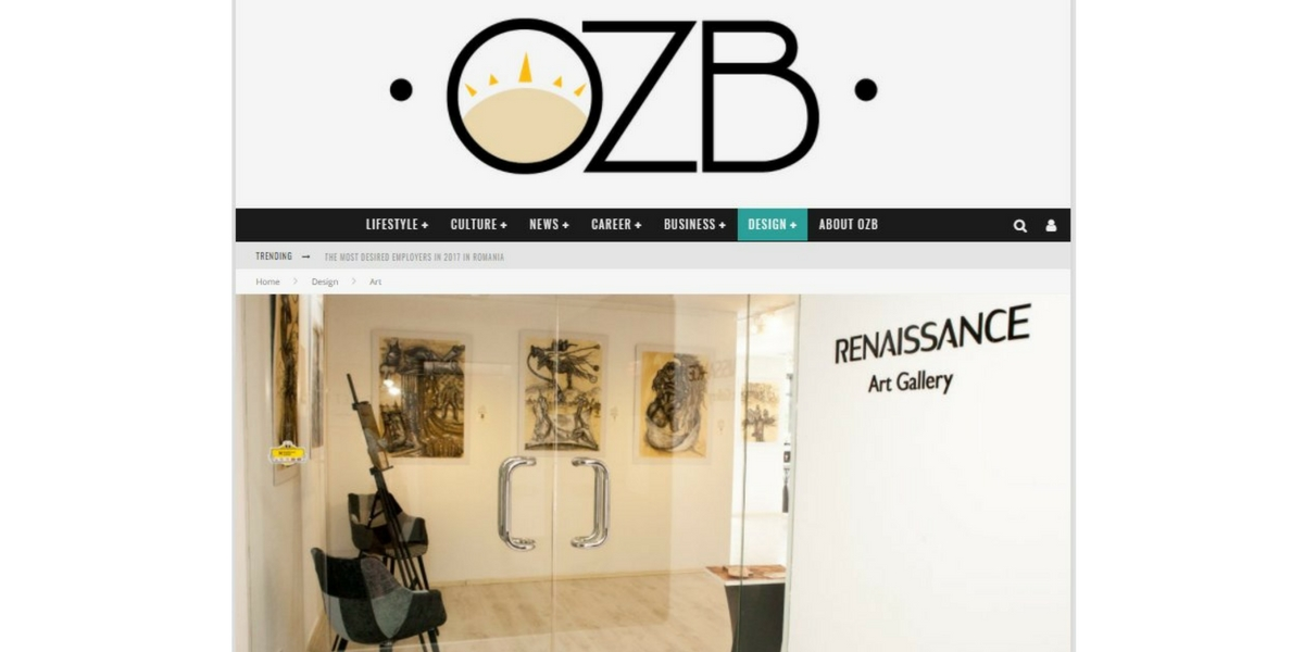 OZB Magazine: Passion for Art – June 2017