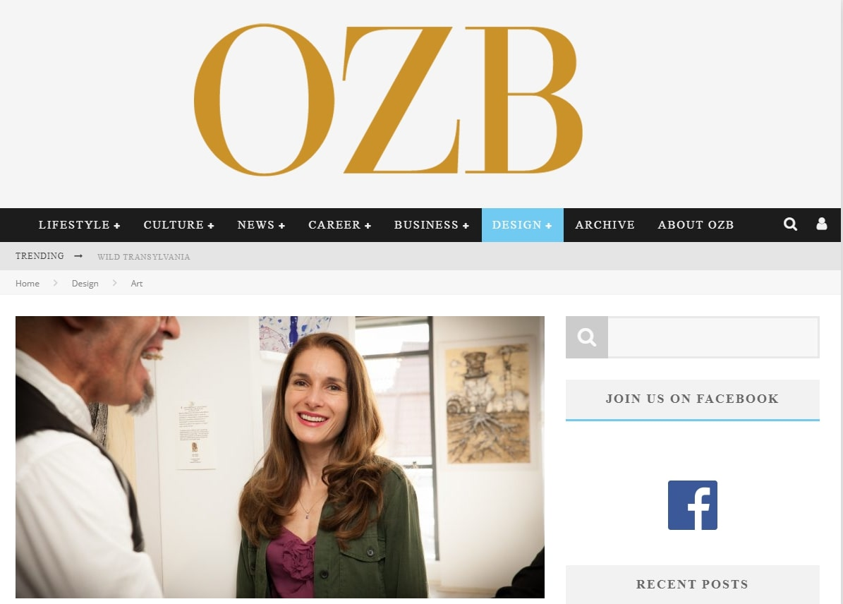 OZB Magazine – From Financial Consultant To Gallerist: An Interview with Oana Visoiu Cutucache – October 2019